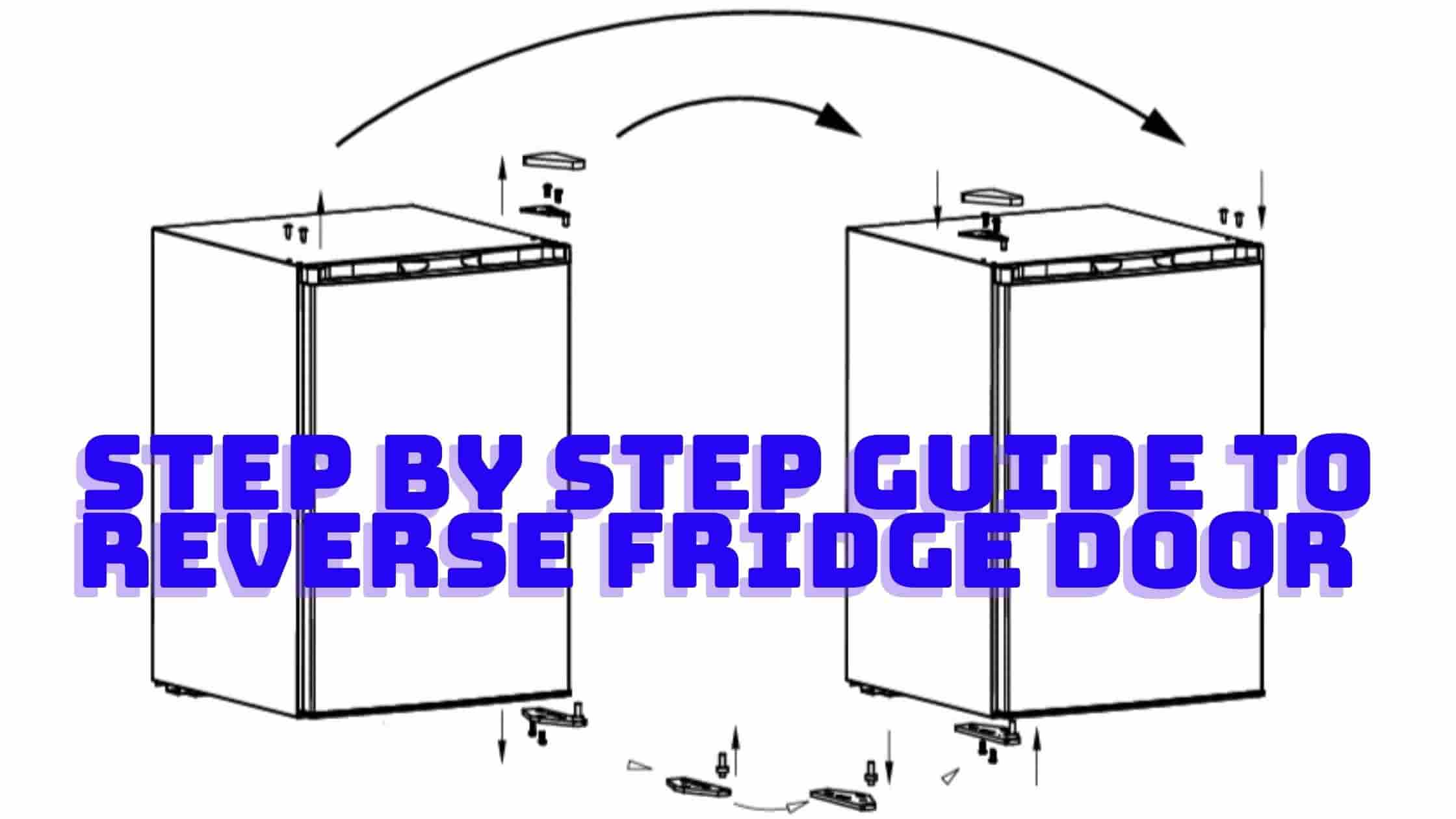 How to reverse mini fridge door